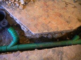 Neue Abwasserleitung
